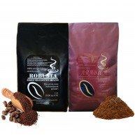 Зернова мелена кава в асортименті